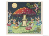 Fairies at Play, a Toadstool Makes a Convenient Merry-Go- Round Giclee Print by Mildred Entwhistle