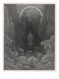 The Ship Sails into the Icy Waters Near the South Pole Accompanied by the Albatross Giclee Print by Gustave Doré