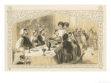Serving the Goose at a 16th Century Christmas Banquet Giclee Print by Birket Foster