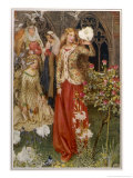 Guinevere and Her Ladies-In- Waiting in the Golden Days Giclee Print by Eleanor Fortescue Brickdale