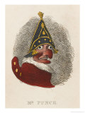 Portrait of Mr. Punch Giclee Print by George Cruikshank