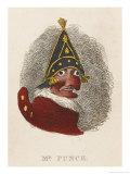 Portrait of Mr. Punch Giclee Print by George Cruikshank