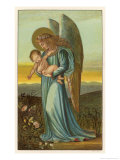 Guardian Angel Walks with a Child in Its Arms Giclee Print by Eleanor Vere Boyle