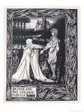 Arthur and the Strange Mantle Giclee Print by Aubrey Beardsley