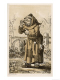Monachus Franciscanus a Rather Unfriendly Picture Done Giclee Print by A. Arnst