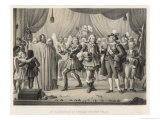 Gustav III of Sweden Attends a Rehearsal of the Opera Gustaf Wasa Giclee Print by C.a. Dahlstrom