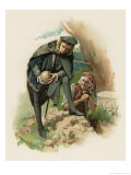Hamlet at the Grave Moralises on the Skull of the Jester Yorick Giclee Print by Harold Copping