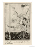 How King Arthur Saw the Questing Beast and Thereof Had Great Marvel Giclee Print by Aubrey Beardsley