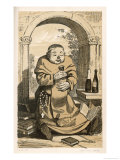 Monachus Benedictinus a Satirical Drawing Done at a Time When England Feared a Papal Invasion Reproduction procédé giclée par A. Arnst
