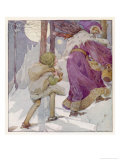 Good King Wenceslas Gicleetryck av Anne Anderson