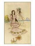 Fairy by the Sea Giclee Print by Warwick Goble