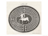 Centaur in a Labyrinth Giclee Print by A. Bell