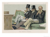 Members of Parliament: Sir Stafford Northcote Lord John Manners Sir Richard Cross Giclee Print by Theobald Chartran