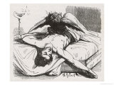 An Incubus in the Form of a Bird Perches Upon Its Helpless Victim Giclee Print by Charles Gilbert