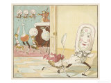 And the Dish Ran Away with the Spoon Giclee Print by Randolph Caldecott