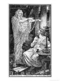 The Greek Stoic Philosopher Athenodorus (Died 7 Ad) Rents a Haunted House Giclee Print by Henry Justice Ford