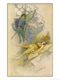A Midsummer Night's Dream, Act II Scene II: Oberon Places a Spell on Titania Giclee Print by Warwick Goble
