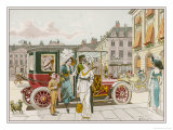 Elegant Parisiennes Use Their Automobile for Shopping Giclee Print by H. Delaspre