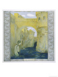 The Little Mermaid Watches the Castle Drawbridge Being Lowered Giclee Print by Heinrich Lefler