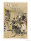 Henri IV is Assassinated While Driving in His Coach by Ravaillac Giclee Print by Theophile Fragonard