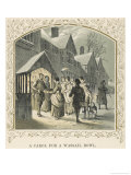 Carol Singers Having Done Their Stuff are Rewarded with the Wassail Bowl Giclee Print by Birket Foster