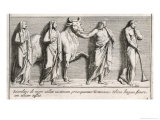 Priests and Sacrificial Bull at the Funeral of Patroclus Giclee Print by Pietro Santi Bartoli