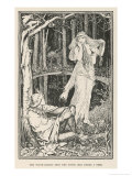 The Witch-Maiden Sees the Young Man Under a Tree Giclee Print by Henry Justice Ford