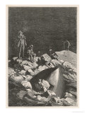 Autour De La Lune, Landing on the Moon! Giclee Print by Emile Bayard