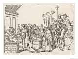 The Sale of Indulgences by Catholic Clergy in a German Market-Place Giclee Print by Jorg Breu