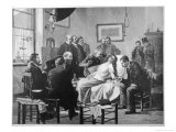 German Doctors Observe a Demonstration of Hypnotism at Munchen Giclee Print by B. Falkenberg