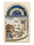 French Farm in Winter Giclee Print by Pol De Limbourg
