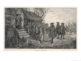 An Old English Cottage Woman is Accused of Witchcraft by Fellow Villagers Giclee Print by H.g. Glindoni