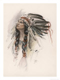 Portrait of Hiawatha Giclee Print by Harrison Fisher