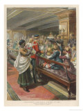 Children's Party on Board a Troopship Returning from India to Britain Giclee Print by Godefroy Durand