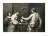 John the Baptist He is Beheaded and Salome Holds out a Dish to Receive His Head Giclee Print by W.h. Egleton
