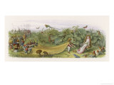 Fairy Prince Pays Court to a Fairy Inviting Her to Share His Crown Giclee Print by Richard Doyle