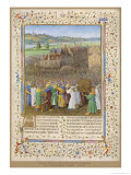 He Besieges Jericho Which is Startlingly Like a 15th Century French Town on the Banks of the Loire Giclee Print by Jean Fouquet