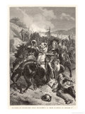 Battle of Naseby, Charles I in Action Giclee Print by Emile Bayard