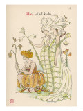 Lilies Personified Giclee Print by Walter Crane