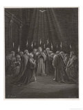 The Holy Spirit Descends on the Apostles and Their Associates with the Gift of Tongues Giclee Print by Gustave Doré