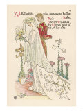 Crane a Flower Wedding Giclee Print by Walter Crane