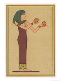 The Provider of Food for the Living and the Dead, She Holds Two Pots to Prove It Giclee Print by E.a. Wallis Budge
