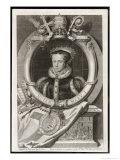 Mary Tudor Catholic Queen of England with the Motto Truth is the Daughter of Time Giclée-Druck von George Vertue