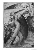 Beowulf and Dragon Giclee Print by John Henry Frederick Bacon