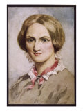 Charlotte Bronte Writer Giclee Print by C.e. Brock