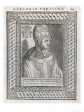 Pope Gregorius XI (Pierre Roger) Restored the Papacy to Rome Giclee Print by  Cavallieri
