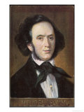 Felix Mendelssohn the German Composer as a Young Man Giclee Print by Eichhorn