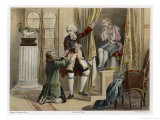 Jacques De Vaucanson French Inventor Astonishes His Servant with a Mechanical Flute-Player Giclee Print by Albert Chereau