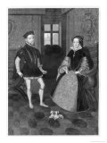 Mary Tudor Catholic Queen of England with Her Husband Philip II of Spain Giclee Print by Joseph Brown