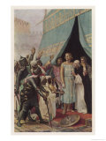 Seventh Crusade Louis Ix King of France Invades the Holy Land But is Taken Prisoner at Mansourah Giclee Print by Alexandre Cabanel